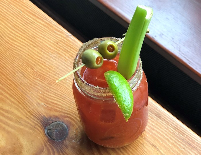 Gramma's Bloody Caesar at The Flying Pig. Photo by Lindsay William-Ross.