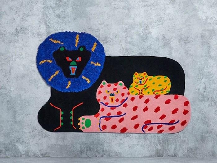 Japanese artist Misaki Kawai designed this whimsical rug. Photo courtesy Ikea.