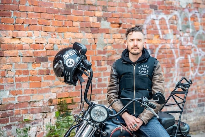 Motorcycle enthusiast James Baker has made raising awareness about Autism Spectrum Disorder a mission. Photo Josh Neufeld