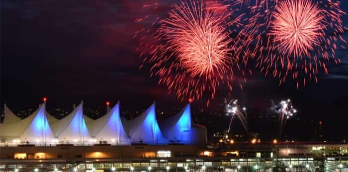 Canada Day fireworks Vancouver / Shutterstock