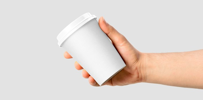 Where do B.C. residents like to get their coffee? Paper coffee cup/Shutterstock.
