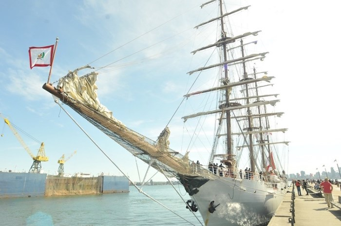 The impressive vessel is one of the largest training tall ships in the world, and is considered a