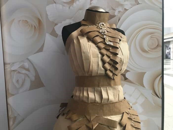Juliana Shih's paper gown.