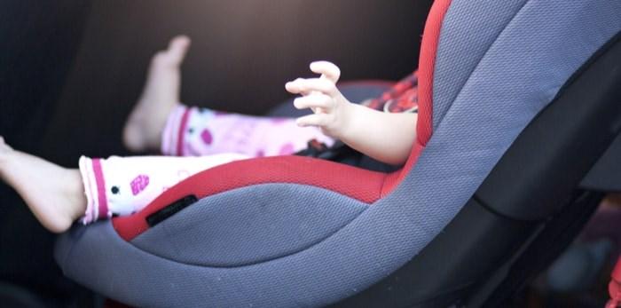 Baby in car seat/Shutterstock