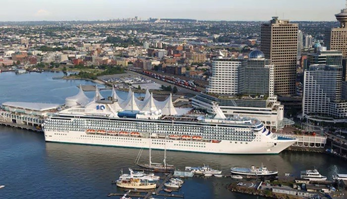 The Princess Cruise trip originated in Vancouver on May 11. Photo via Princess Cruises.
