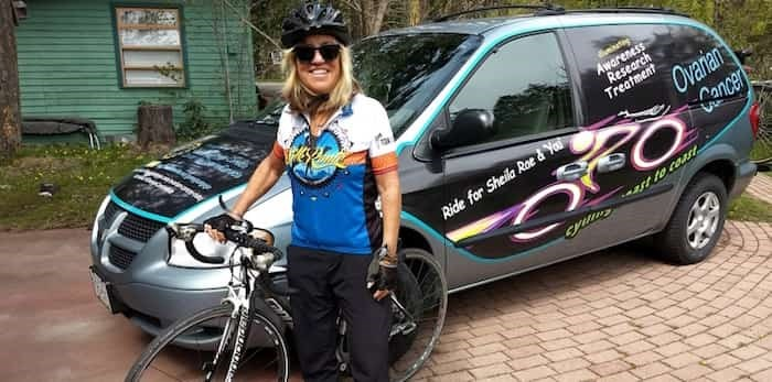 West End resident J. Kathleen Thompson is about to embark on a 6,000-kilometre bike ride across Canada