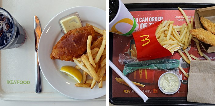 Ikea to the left, McDonald's to the right, here I am, stuck in deep fried fish with you. Photos Bob Kronbauer