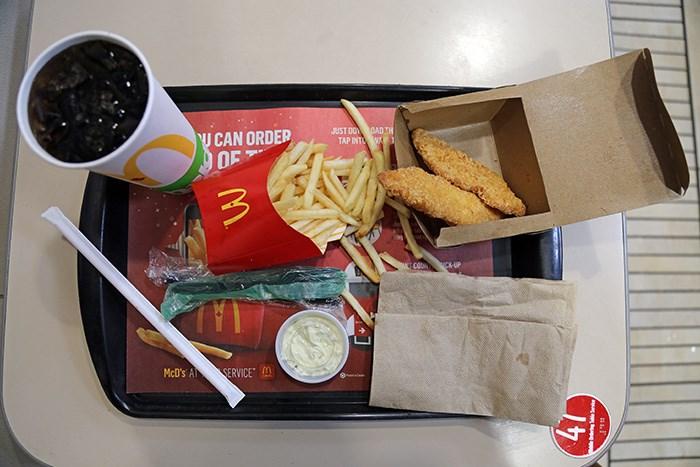 McDonald's fish n' chips. Photo Bob Kronbauer