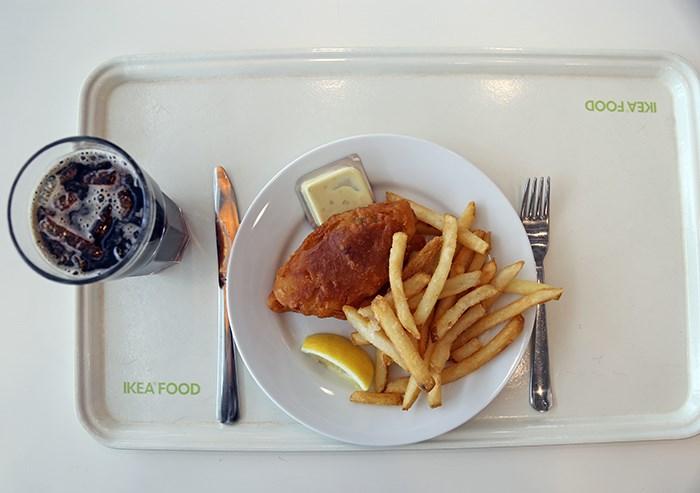 Ikea fish n' chips. Photo Bob Kronbauer
