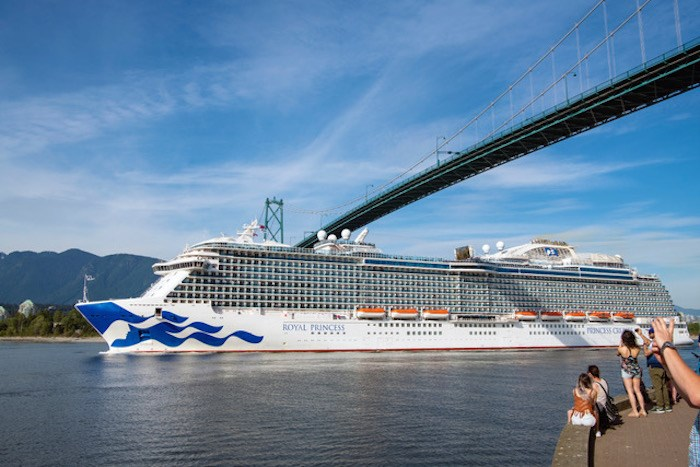 The Royal Princess under the Lions Gate Bridge on Saturday, May 11, 2019. Photo by Jon Lavoie.