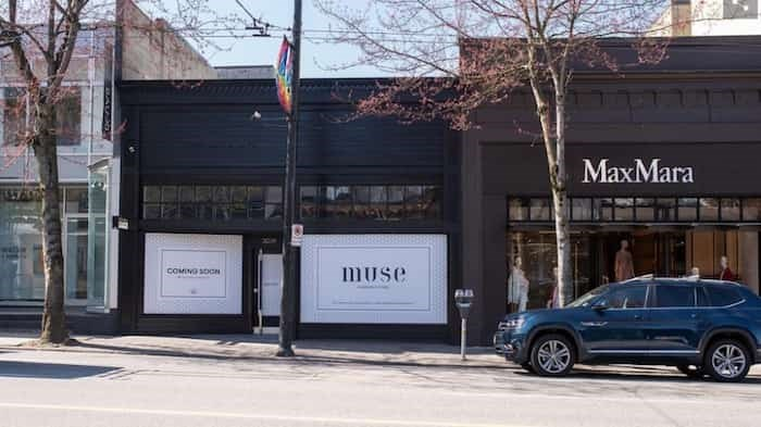 Hoarding is up at 3039 Granville Street, across the street from Meinhardt Fine Foods | Alistair Bird