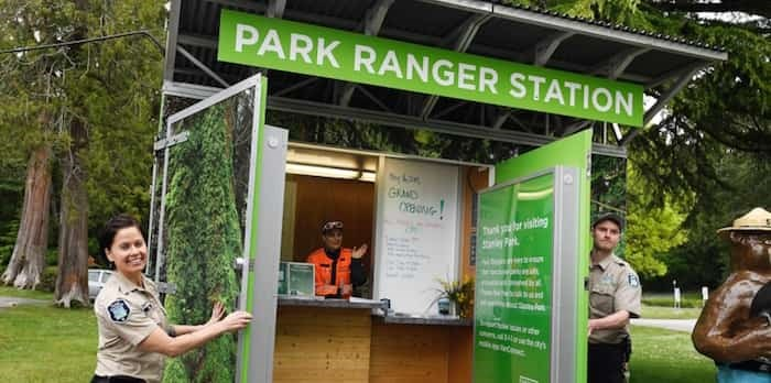 Vancouver Park Board Thursday opened a new park ranger station at Second Beach in Stanley Park. Photo Jennifer Gauthier