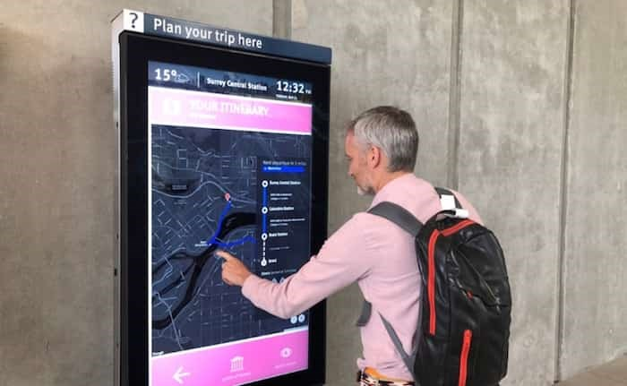 This is what the new transit kiosks will look like. Photo: TransLink