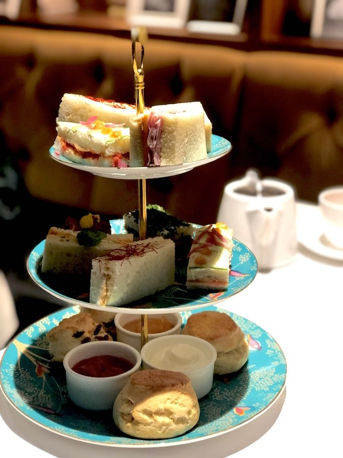 The tea tower, featuring the regular menu items and a Children's Tea. Photo by Lindsay William-Ross/Vancouver Is Awesome