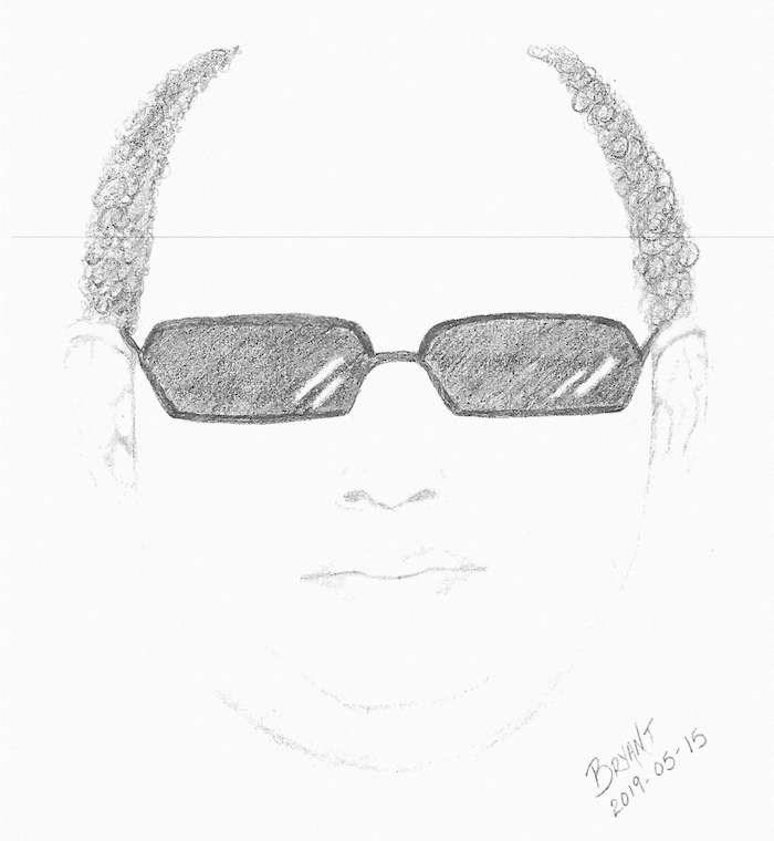 Suspect sketch courtesy North Vancouver RCMP