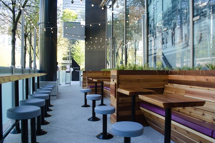 There is a 30-seat covered patio at the new SMAK on Howe St. Photo courtesy SMAK.