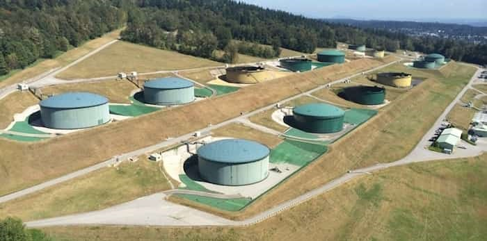 Trans Mountain pipeline tank farm in Burnaby, B.C. Burnaby NOW file photo