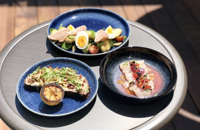 A trio of dishes from the new summer menu on the new patio at H Tasting Lounge. Photo by Lindsay William-Ross/Vancouver Is Awesome.