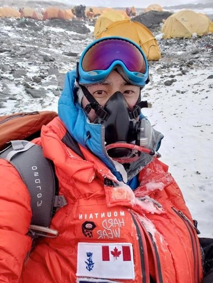 When Chris Dare, shown in this image from his Facebook page, stood on the roof of the world he had tears behind his goggles. After nine years and mountains on seven continents, the British Columbia resident who is an officer in the Canadian Armed Forces climbed the 8,848-metre peak of Mount Everest at 9:30 a.m. Nepal time on Thursday.THE CANADIAN PRESS/HO-Facebook-Chris Dare