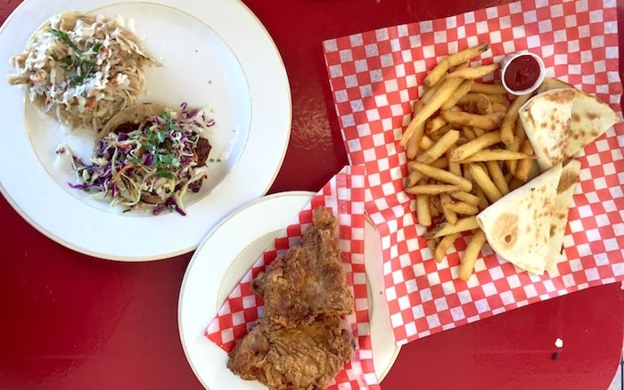 Tacos, quesadilla, fries, and fried chicken at Mag's 99. Photo by Lindsay William-Ross/Vancouver Is Awesome