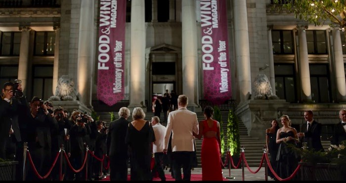 The Vancouver Art Gallery dressed up for a fancy night as the venue for the Food & Wine Awards. Screenshot/Netflix