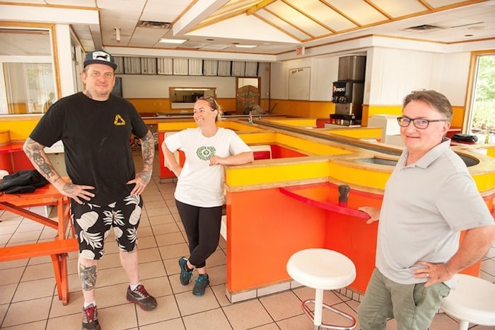 From left to right, Aaron Lawton, Diana Frederickson and Scott McQuade. The trio have partnered to open up a new restaurant at the former Mag's highway location. Photo by David Buzzard