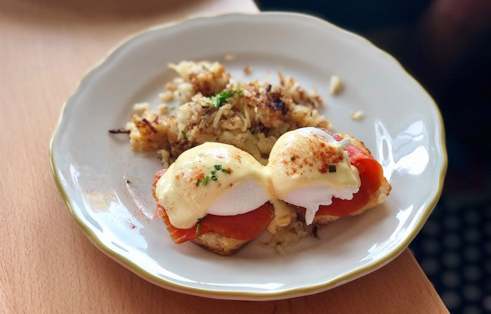 Eggs Benny with Smoked Salmon. Photo by Lindsay William-Ross/Vancouver Is Awesome