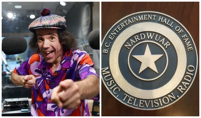 Nardwuar the Human Serviette's closest friends and confidantes teamed up to secretly nominate the local media icon for the B.C. Entertainment Hall of Fame. Their efforts were successful. Left photo Dan Toulgoet