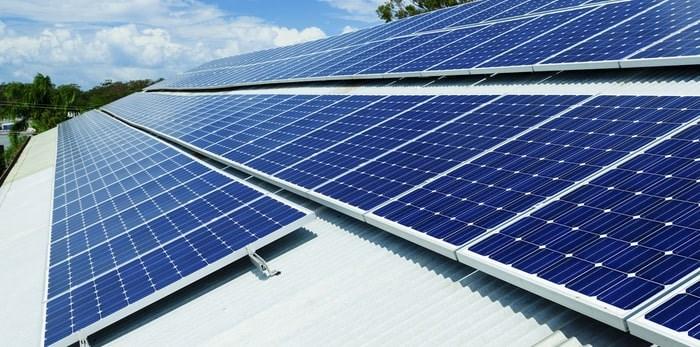 Solar panels on roof/Shutterstock
