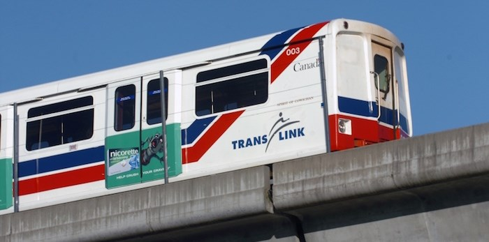 SkyTrain service is disrupted on the Millennium Line due to a fallen tree. Photo: SkyTrain/File photo