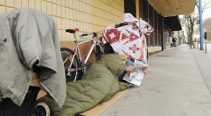 Homelessness has reached an all-time high in Vancouver, as results from this year's homeless count revealed Wednesday. Photo by Dan Toulgoet