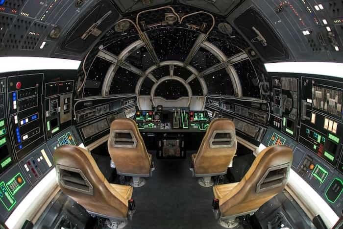 Inside Millennium Falcon: Smugglers Run at Star Wars: Galaxy's Edge at Disneyland Park Anaheim. Photo Joshua Sudock/Disney Parks