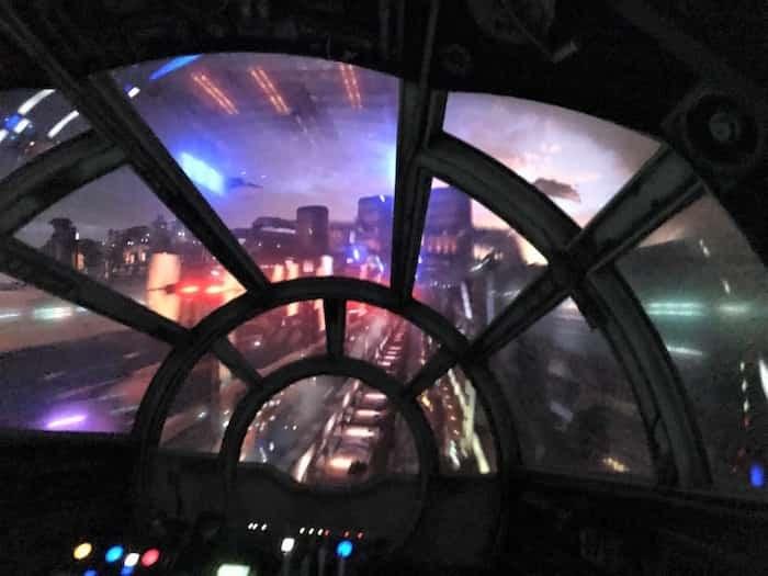 Inside the Millennium Falcon: Smugglers Run ride at the new Star Wars: Galaxy's Edge attraction at Disneyland Anaheim. Photo Sandra Thomas
