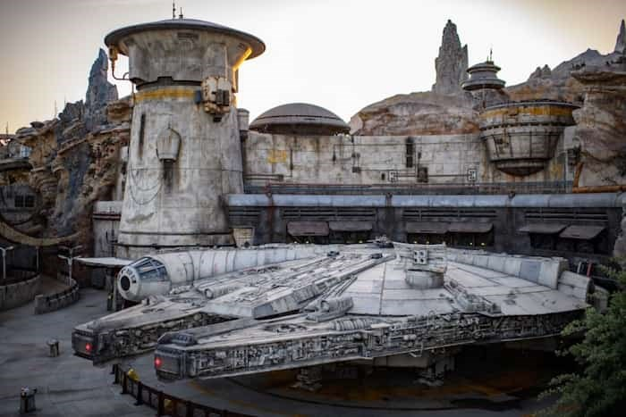 Star Wars: Galaxy's Edge at Disneyland Park in Anaheim transports guests to Black Spire Outpost, a village on the planet of Batuu. Guests can also ride the Millennium Falcon: Smugglers Run (pictured). Photo Richard Harbaugh/Disney Parks