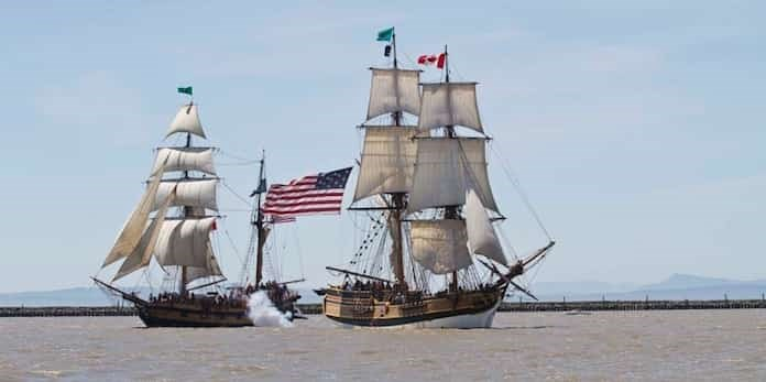Experience a thrilling tall ships gun battle and much more at the Richmond Maritime Festival at the Britannia Shipyards National Historic Site. Photo submitted