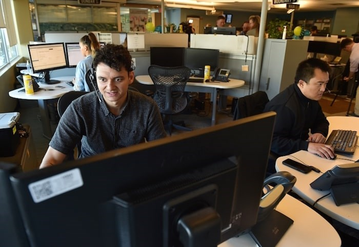 The City of Vancouver's 311 contact centre, which marked its 10th anniversary June 15, fielded 7.75 million calls since it launched. Photo Dan Toulgoet