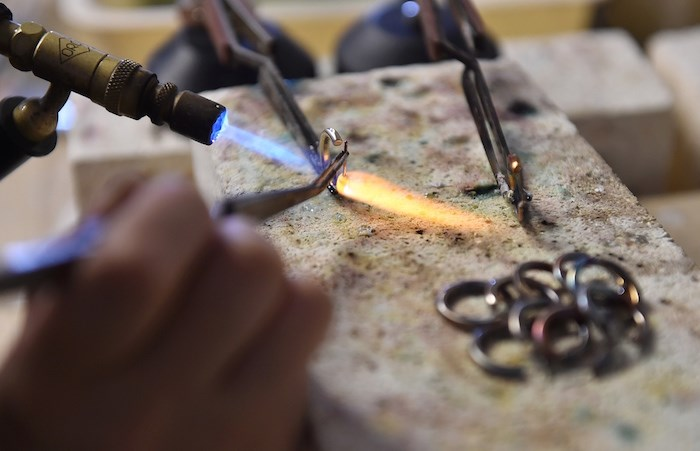 A team of female jewellers works with Morrison to help bring her designs to life. Photo Dan Toulgoet