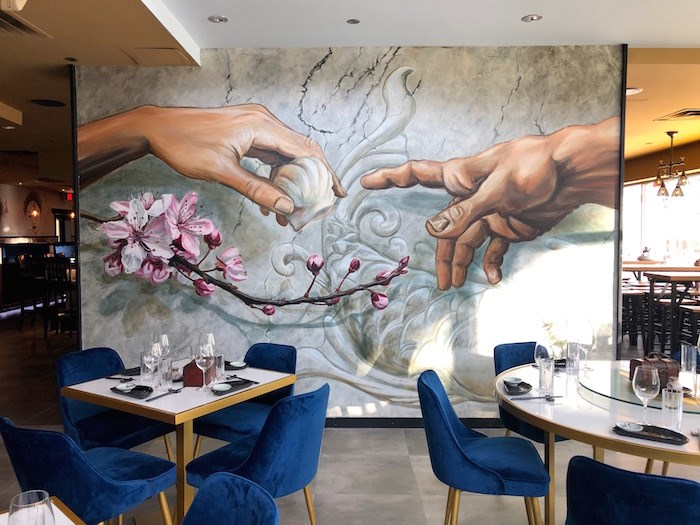 A cheeky and whimsical mural inside the dining room. Photo by Lindsay William-Ross/Vancouver Is Awesome