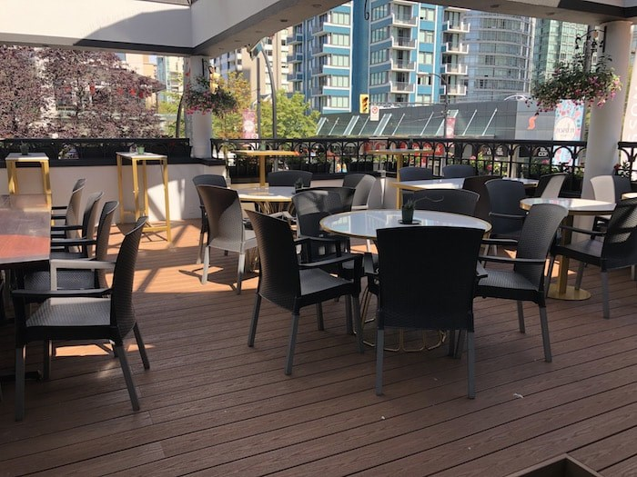 The patio space. Photo by Lindsay William-Ross/Vancouver Is Awesome