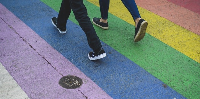 Rainbow crosswalk/Shutterstock