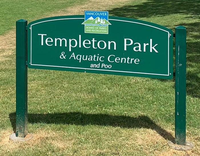 It's Templeton Park & Aquatic Centre and Poo as of June 2019. Photo submitted