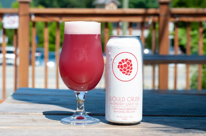 Would Crush Raspberry Wheat Ale by Twin Sails Brewing. Photo courtesy BC Ale Trail