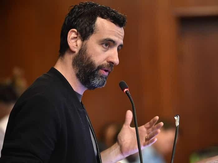 "Amsterdam's former ""night mayor"" Mirik Milan spoke to Vancouver city council last May. Photo: Dan Toulgoet"