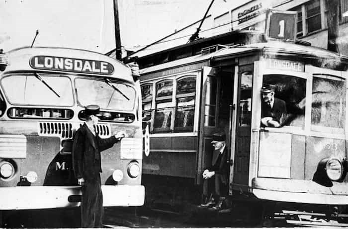 While a few streetcars overshot the landing strip, they were also a place of good cheer and fresh gossip. - photo supplied North Vancouver Museum and Archives