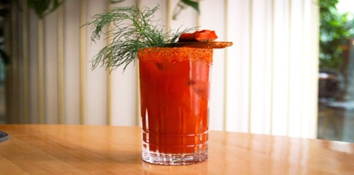 The Coastline Caesar recipe was created by Jeff Savage, head bartender at Botanist at Fairmont Pacific Rim. Photo Fairmont Hotels
