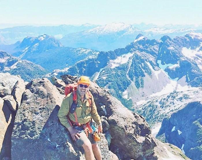 Clarke Gourlay on Rambler Peak. Photo by Phil Jackson.