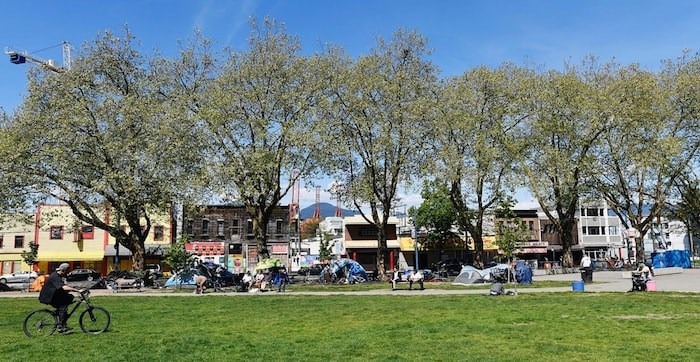 Oppenheimer Park in May 2019. Photo by Jennifer Gauthier/Vancouver Courier