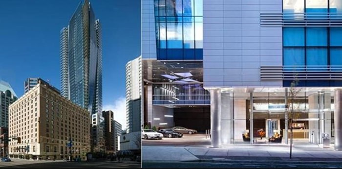 The penthouse at the top, 48th floor of the Residences at Hotel Georgia hasn't sold since completion in 2012, and has now been finished and relisted at $35.8 million. Listing agents: Malcolm Hasman, Jason Soprovich