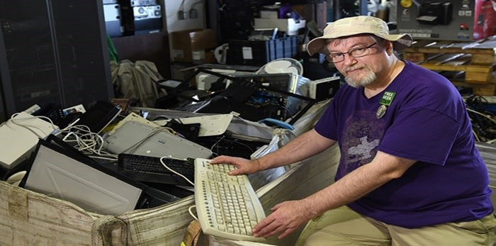 Free Geek Operations manager Robert Pilkington says the non-profit organization is at risk of closing this summer. Photo Dan Toulgoet