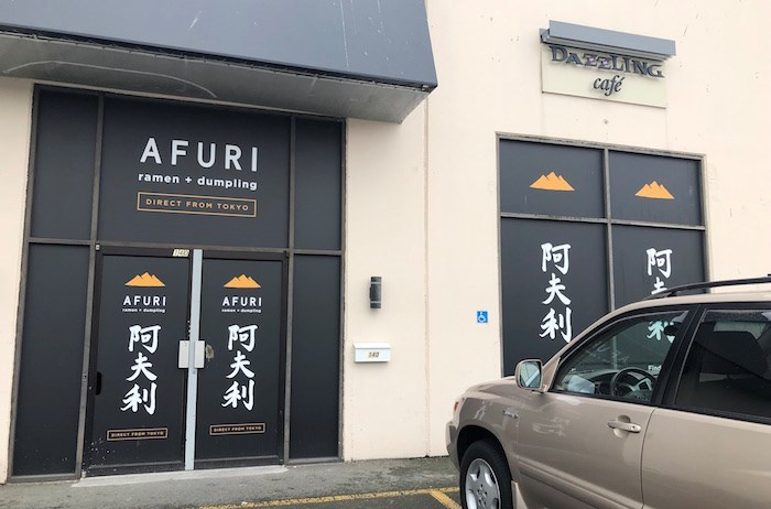 Afuri Ramen + Dumpling is moving in where Dazzling Cafe previously was. Photo by Lindsay William-Ross/Vancouver Is Awesome
